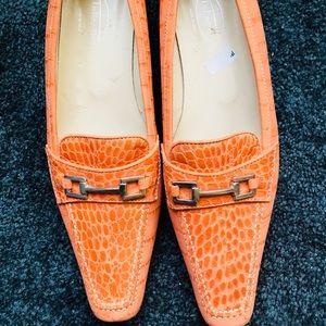 Talbot Shoes 9.5. Leather. Orange. It's Beautiful!